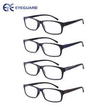 8856b203be94f EYEGUARD Leitores 4 Pacote Retangular Sports Óculos de Leitura Dobradiças  de Mola para Homens
