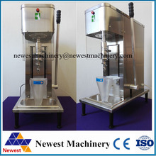 Auto self-cleaning swirl fruit frozen yogurt mixer,mixed ice cream machine, manual fruit ice cream mixer(China)