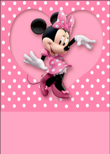 5x7FT Minnie Mouse Pink Polka Dots Heart Love Custom Photo Studio Backdrops Backgrounds Vinyl 220cm x 150cm