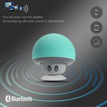 Mini Mushroom Wireless Bluetooth 4.1 Speaker with Mic Portable Waterproof Shower Stereo Subwoofer For Mobile Phone iPhone Tablet