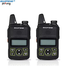 2 PCS Original Baofeng BF-T1 Mini Walkie Talkie UHF 400-470mhz Portable Two Way Radio Ham Radio Transceiver Micro USB