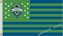 3X5FT Seattle Sounders flag American Professional Football banners 100D digital printing free shipping(China)