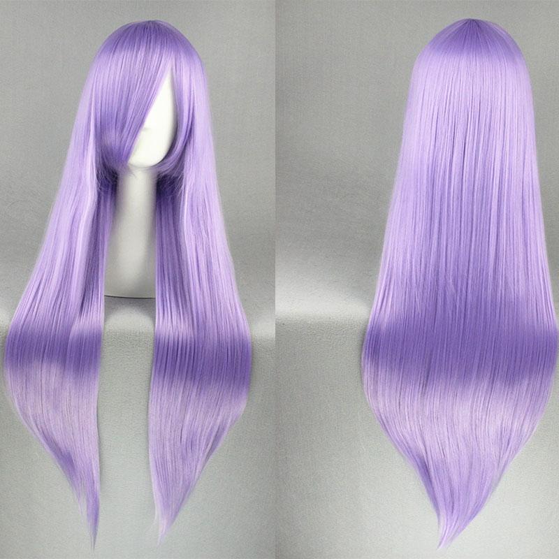 Gin Tama Sarutobi Ayame Anime Hair Long Straight Hair Pale Purple Cosplay Wigs+Free Wig Cap<br><br>Aliexpress