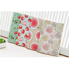Q22 1X Kawaii Cute Fruit Portable Soft Notebook Stationery Diary Sketchbook School Planner Student Gift