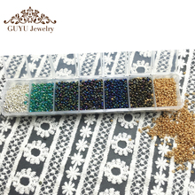 GUFEATHER 21 Color 2mm 1500pcs(the Color 18/19/20)diy seed beads/bead for clothing or jewelry design wholesale