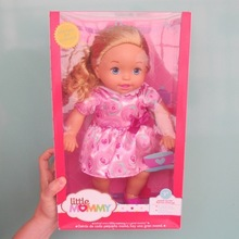 38cm little gold hair pretty pink girl Little Mommy baby doll Fragrant Boneca doll toy figure toy