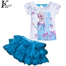 Children Clothing Sets Summer Girls Sport Suit Fashion MOANA Girls Clothes Sets For Short Sleeve Kids Clothes 3 4 5 6 7 8 Years(China)