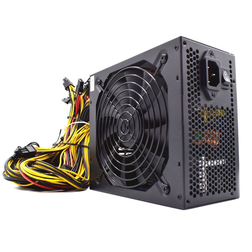 1200//1500W 6GPU 24Pin Mining Power Supply For ETH Rig Ethereum BTC Coin Miner US