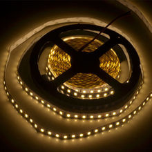 5M 12V 5A 2835 Warm White 3000K Non-WaterProof SMD LED Flexible Strip light 600 LEDS House/Rooms decoration(China)