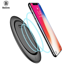 Baseus Qi Wireless Charger Pad For iPhone 8 Plus X 10 Xiaomi Samsung S8 9V Mobile Phone Desktop Wireless Charging Dock Station(China)
