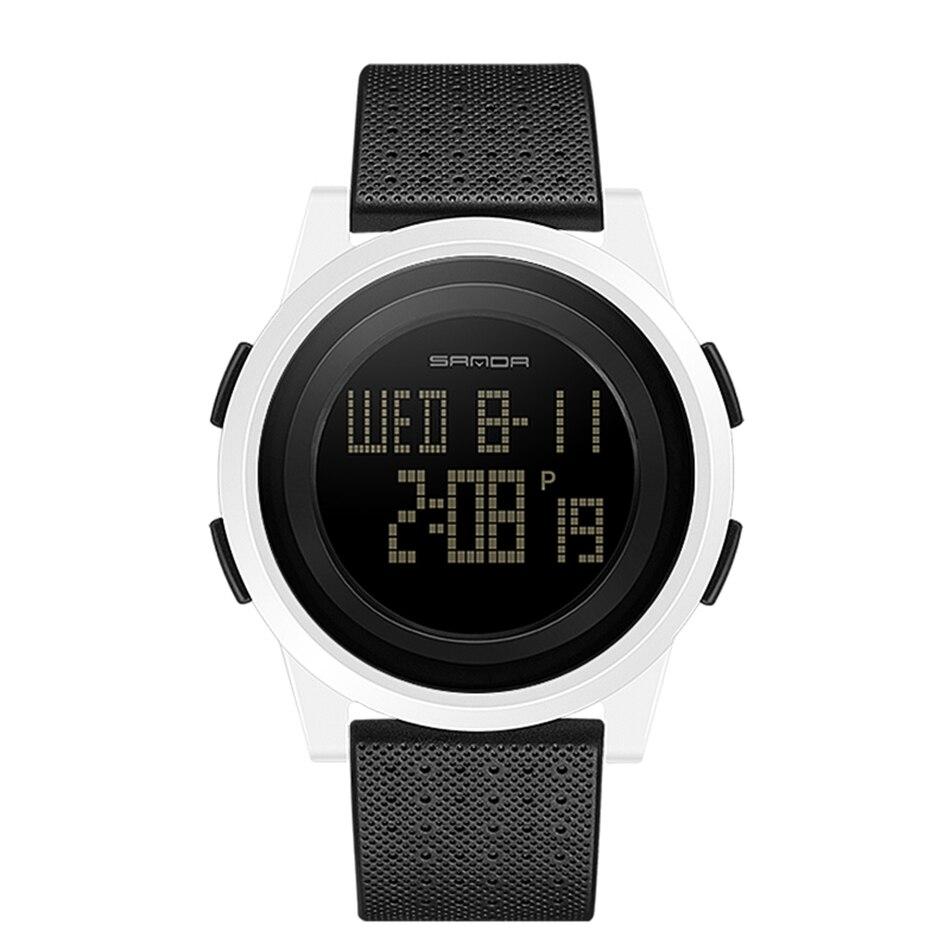 SANDA Fashion Women Sports Watches Waterproof 30m Ladies Ultra Thin LED Digital Watch Swimming Diving Hand Clock Montre Femme 23