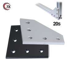 5 홀 90 Degree Joint Board Aluminum 판 코너 Angle Bracket Connection Joint Strip 와 5 홀 대 한 Profile 2020 시리즈(China)