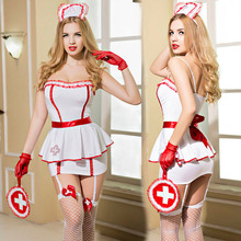 New Porn Women Strap Lingerie Sexy Hot Erotic Bandage Nurse Costume Cosplay Sexy Underwear Erotic Lingerie Porno Nurse Costumes(China)