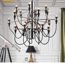 Modern home decoration 18 bulbs Gino Sarfatti designed Chandelier Living Room Dinning Room light free shipping