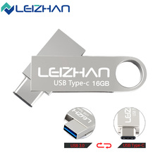 LEIZHAN 3.0 OTG USB Flash Drive Type-C 3.1 Dual Metal Port Mobilephone USB Pendrive High Speed Pen Drive 32GB 16GB(China)