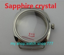 45mm Sapphire crystal Polished Stainless Case Fit 6497-6498 Movement High quality watchcase wholesale 010a