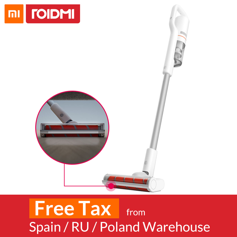 Xiaomi Roidmi F8 Handheld Vacuum Cleaner for Home Dust Collector Low Noise Cyclone Bluetooth Wifi LED Multifunctional Brush(China)