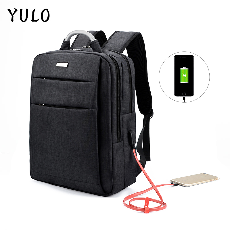 YULO MenS Laptop Bag Multifunction USB Charging Men Laptop Backpacks  Male Leisure Travel Backpack Computer Anti Thief Mochila<br>