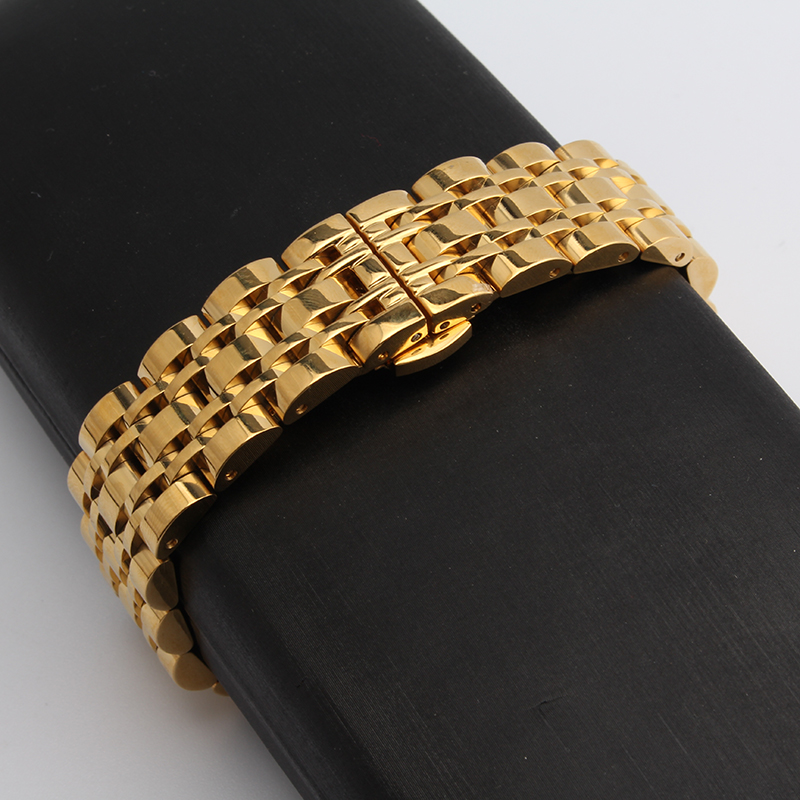 Stainless steel Watchband gold color 14mm 16mm 18mm 20mm 22mm metal wristwatches band butterfly buckle deployment new watch belt<br><br>Aliexpress