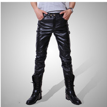 Men Skinny Faux PU Leather Pants Shiny Black Gold silver Trousers Nightclub Stage Performance Singers Dancer jeans Plus Size 4XL(China)