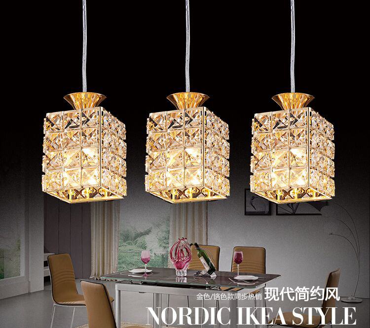 Modern Crystal Pendant Lights for Dining Room Lights Lampara Colgante Suspension Luminaire 3PCS/Lot<br>