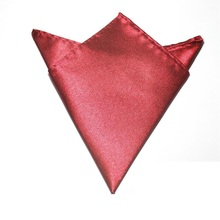 solid color men's Pocket square towel Handkerchiefs burgundy hanky Accessories