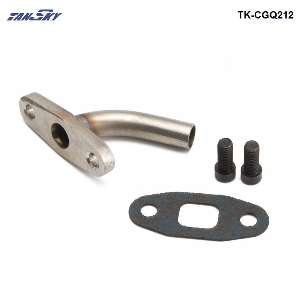Oil Drain Tube w/Integrated Flange for T3/T4 (30 degree tilted/angled) TK-CGQ212