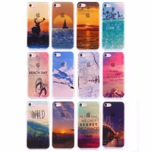For iPhone 6 6S Plus Cover Soft TPU IMD Beautiful Nice Scenery Tower Road Summer Sea Beach Phone Case for iPhone 6 6S 12 Designs(China)