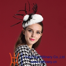 Free Shipping Women Fascinator  Hair  Fur Feather Fashion Ladies' Hair Accessories Elegant Woman Special Noble Hat Modern Style