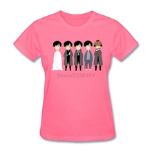Custom Made Chibi sherlocks T-Shirt for Ladies Graphic Homme Adult Tees t shirt Site(China)