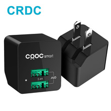 CRDC Dual USB Charger Portable Mini Travel Wall Phone Charger Adapter US Plug for iPhone 7 6 Plus iPad Laptop Xiaomi Samsung S8(China)