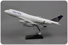 Brand New 1/150 Scale Airplane Model Toys United Airlines Boeing B747-400 47cm Length Resin Plane Model Toy For Gift/Collection