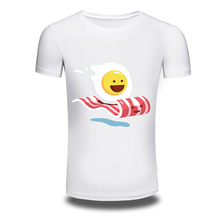 DY-101 Summer Fashion 3D Cartoon Omelette Food Design T Shirt Men's Custom Personality Printed Tops Hipster TShirts(China)