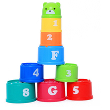 9Pcs/set Baby Kids Intelligence Toys Children Educational Toy Funny Stacked Cup Toys For 0-12 Months Babe Toys Games For Kids(China)