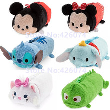 Tsum Tsum Mickey Minnie Stitch Dumbo Finding Dory Marie Pascal Sulley Plush Pencil Bags Case Kids Stuffed Toys Children Gifts