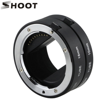 SHOOT 10mm 16mm Macro Extension Tube Set Auto focus Set With Lens Adapter for Sony E A6000 A5000 NEX-5R NEX-3N C3 LF434 Camera(China)