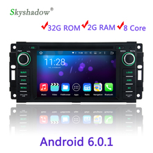 Android 6.0 Octa Core 2G RAM Car DVD Player Wifi GPS map RDS Radio For Jeep Compass Commander Grand Cherokee Wrangler Dodge RAM(China)