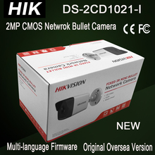 DS-2CD1021-I New Hik 2MP bullet IP camera cheap IPC POE replace DS-2CD2025-I CCTV security Camera H.264+ 30m IR without SD card(China)