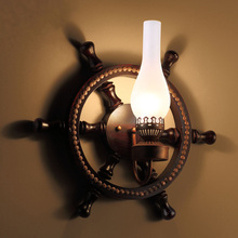 Continental bedroom garden restaurant staircase bedside personalized wall light gift ideas retro rudder wall lamp