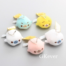 Anime 10 Sets Cute Seal Soft Plush Toys Mini Seal Stuffed Animals 5 Pcs/Set 6 CM Children Gift(China)