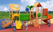 Exported to South America Anti-rot Wooden Playground Set 2016HZ-N007 23 Years' Manufacturer's Experiences Shipped By Sea