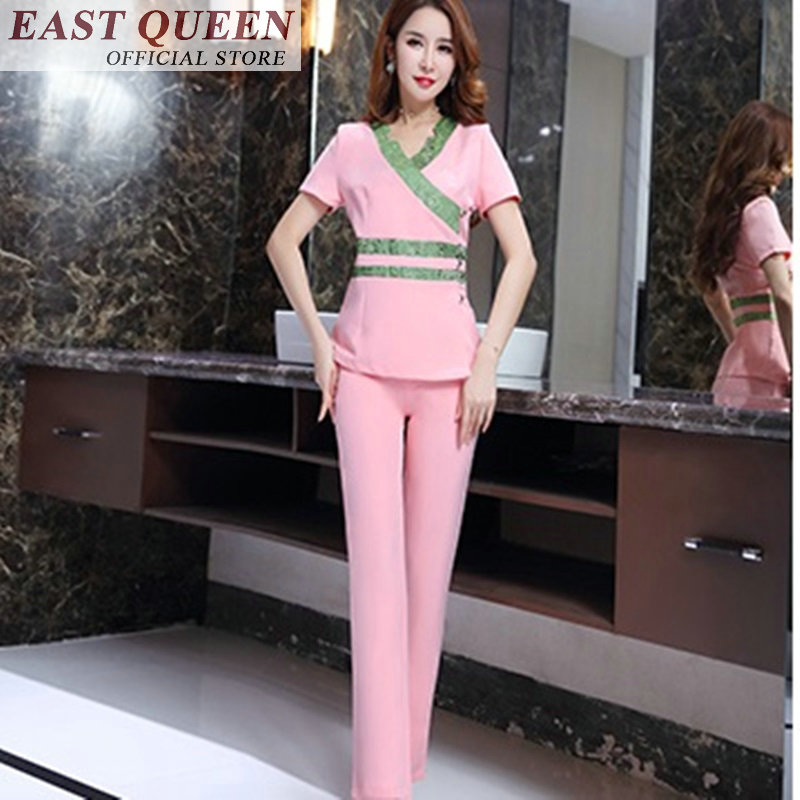 Work wear uniforms spa salon beauty scrubs medical uniforms women medical clothing clothes two piece set top and pants FF414 A