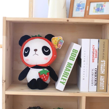 BSTAOFY Dropshipping 1Pcs Red Hat Two Size Cute Strawberry Panda Stuffed Plush Toys Sitting Lovely Aniaml Dolls Best Gifts(China)