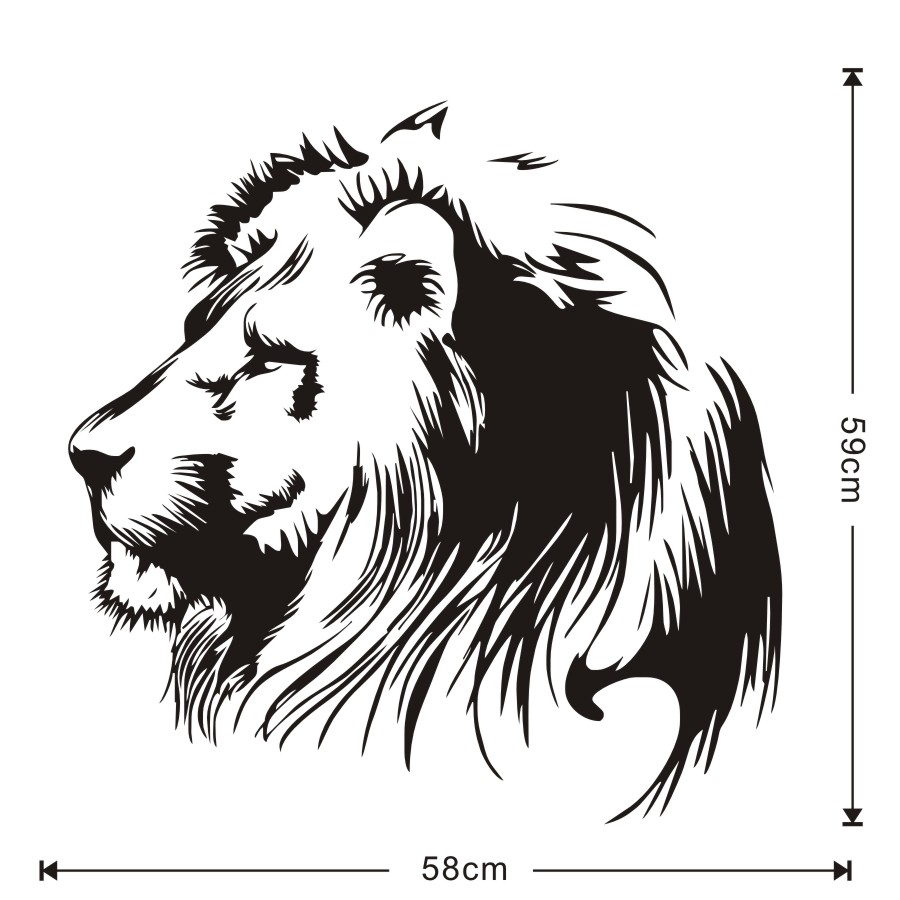 Simple lion head outline