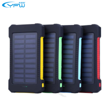 YFW Waterproof Solar Power Bank 10000mAh with LED Light&Compass Dual USB Portable Solar Charger Battery for iPhone 5s 6 Xiaomi