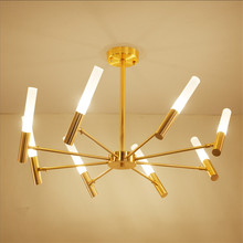 2017 Modern Simple Gold Living Room LED Ceiling Lights American Style Personality Designer Restaurant Bedroom Home Decor Lamps
