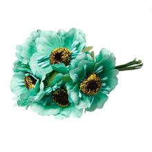 "Terylene Artificial Chrysanthemum Flower Decoration Millinery Green 11.0cm(4 3/8""),2 Bundles 2016 new"