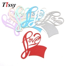 50PCS DIY Love Place Name Card Wine Glass Card Laser Cut Paper Cup Card Table Mark Home Christmas/Wedding Party Decoration(China)