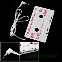New Audio Car Cassette Tape Adapter Converter 3.5 MM For iPod video nano MP3 CD MD(China)