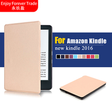 For new kindle 2016 8th generation ebook PU leather smart PU leather cover case ultra slim thin cover for 2016 new kindle 8th